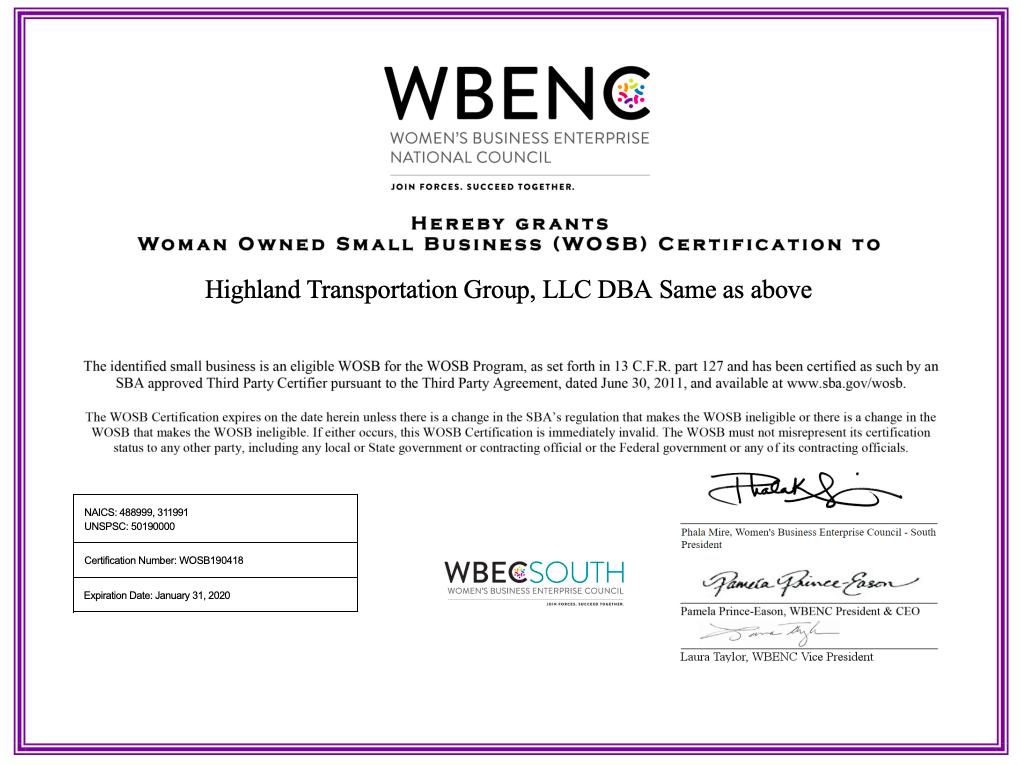 WOSB – HTG, LLC